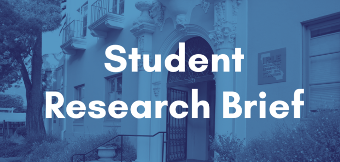 Student Research Brief